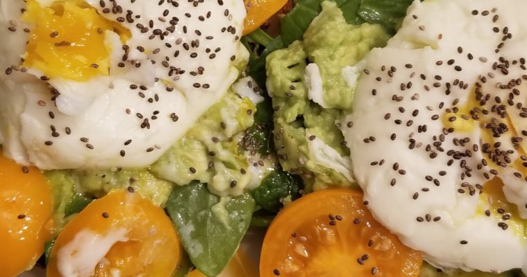 Jazzed Up Avacado Toast w/Poached Eggs