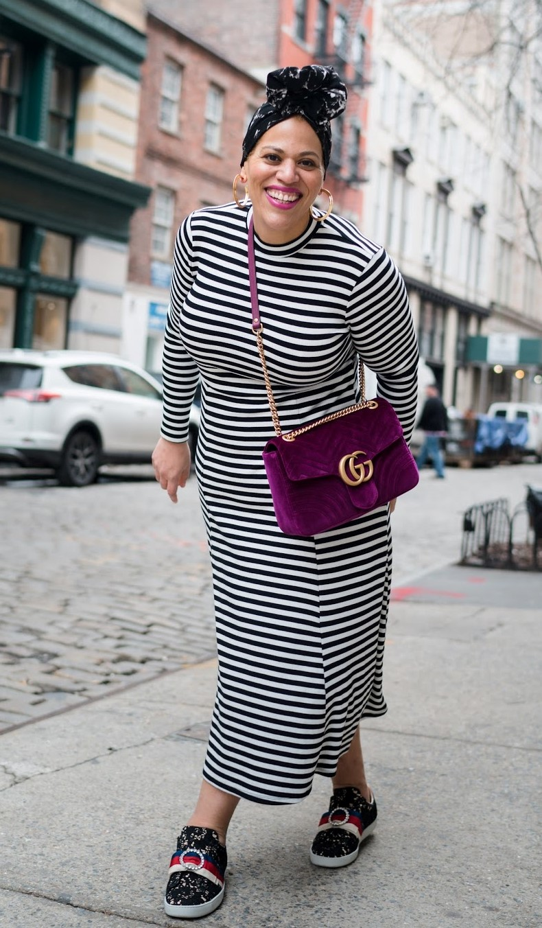 Stripes are great for curves!